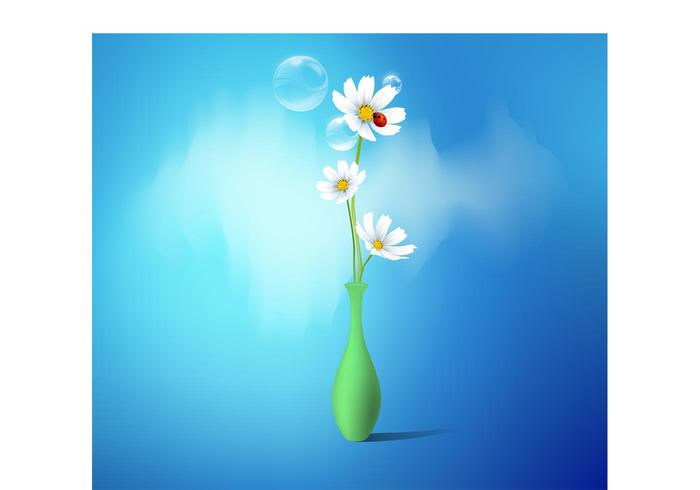 Flower Vector In Vase