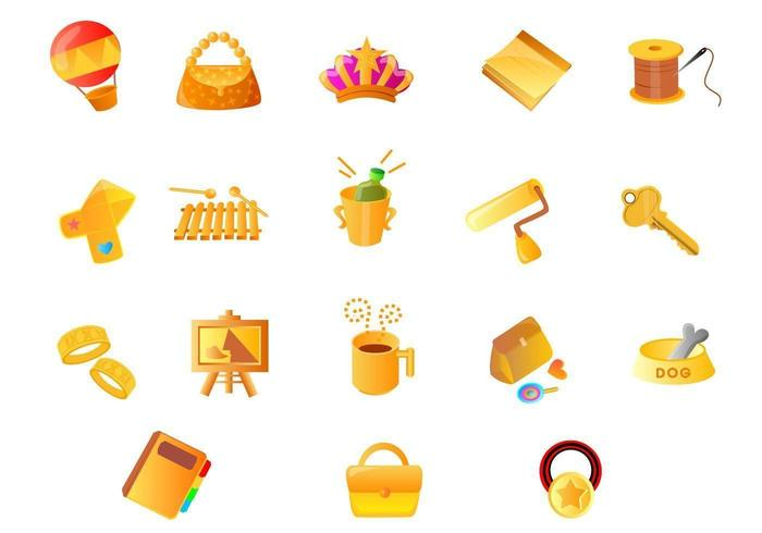Olika Gold Icon Vector Pack