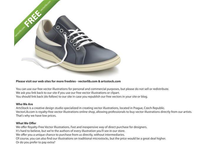Photorealistic sports shoe