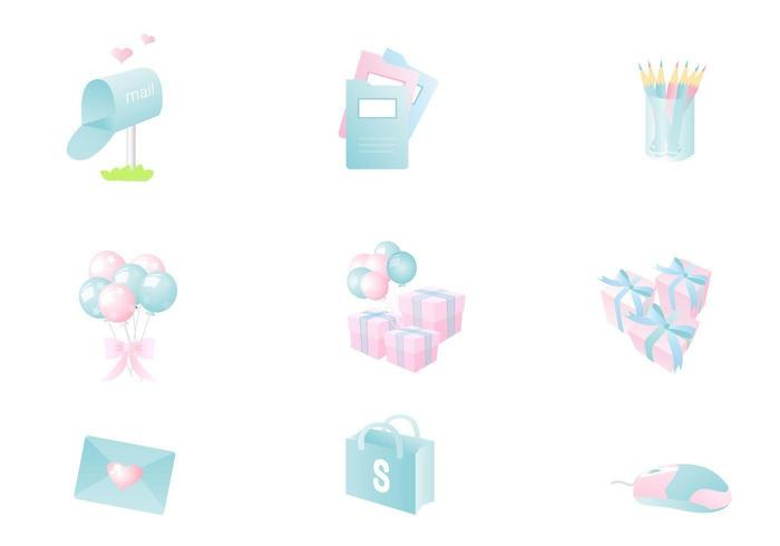 Pastell Icon Vector Pack