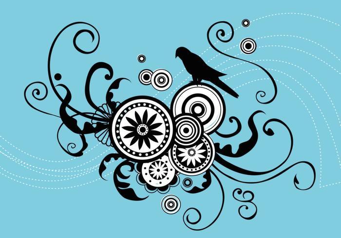 Romantisk Fågel Vector Art