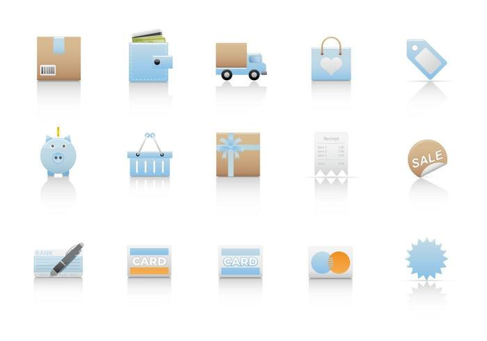 Shopping Ikon Vector Pack