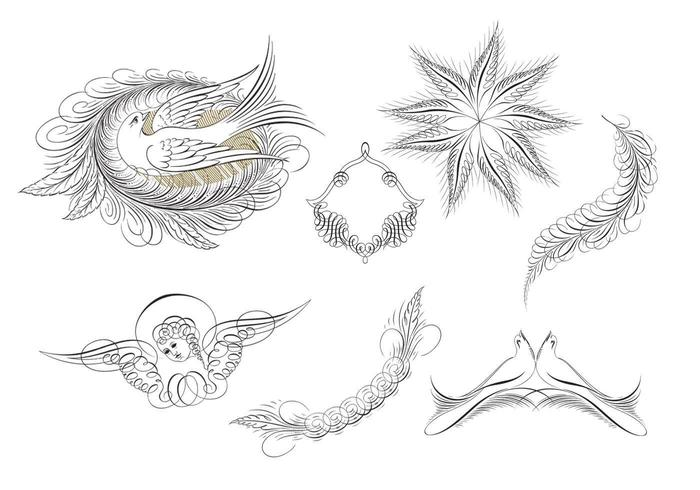 Calligraphic Ornament Vector Pack