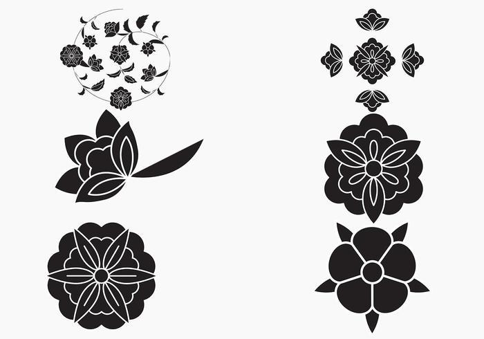 Einfacher Blumen-Vektor-Hintergrund