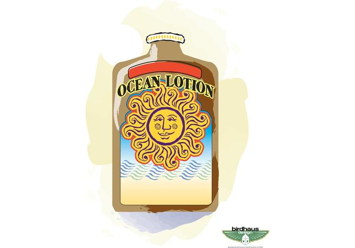 Sun Tan Lotion Bottle
