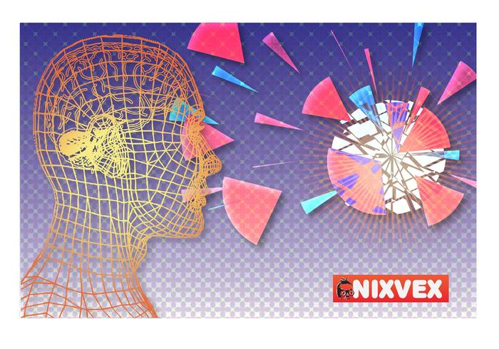 "Nixvex ""WireFrame Head"" Free Vector"