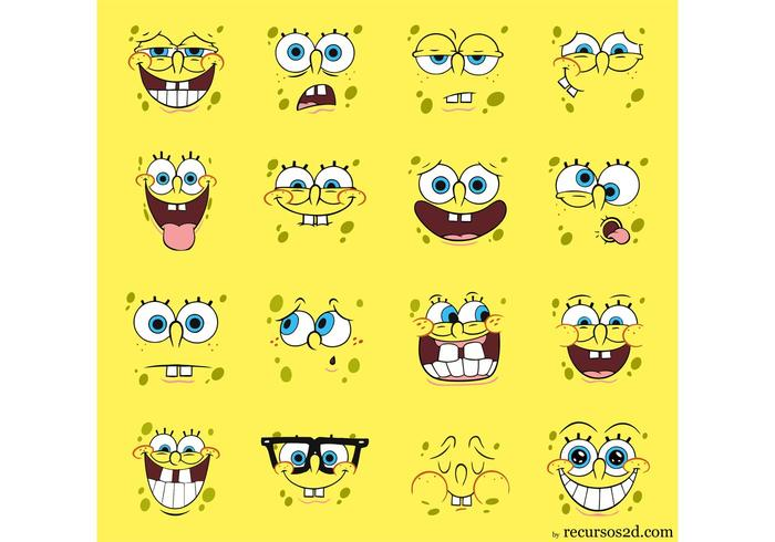 Spongebob Squarepants Vector Pack Faces