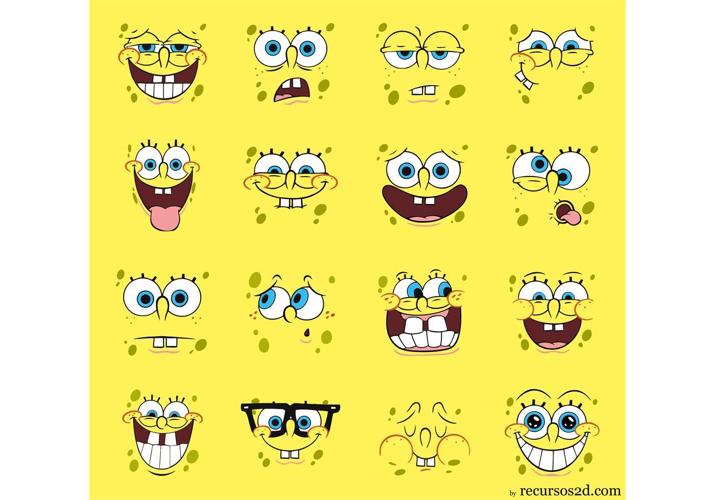 Spongebob Squarepants Vector Pack Faces Download Free