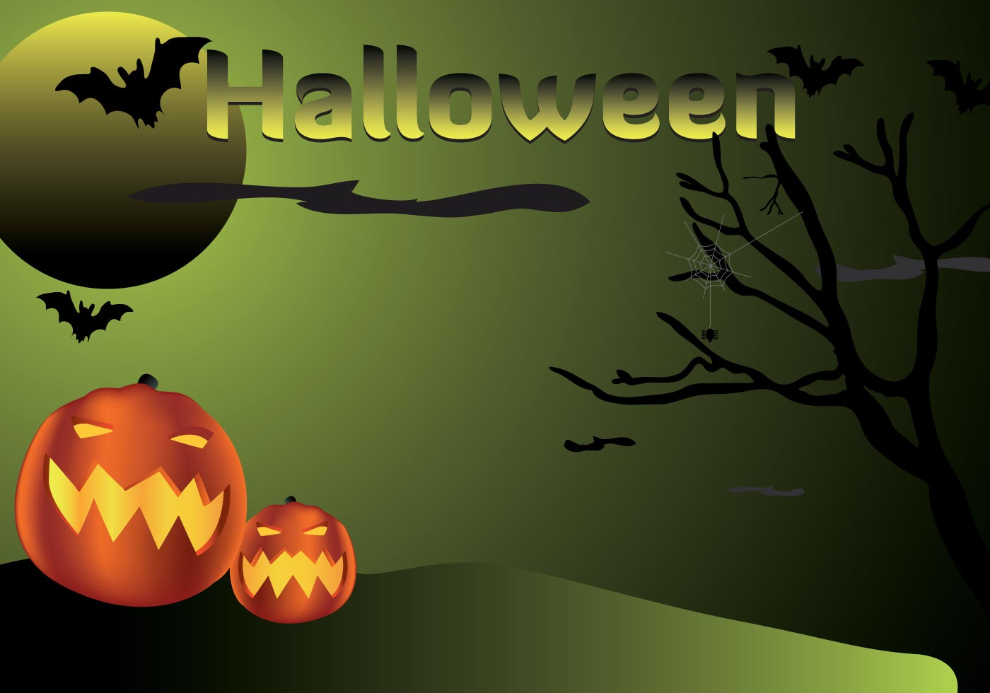 halloween pumpkins in the night download free vector