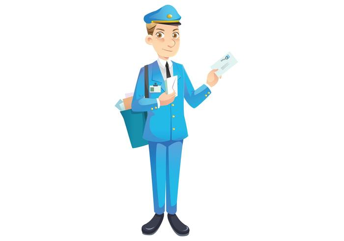 Free Mailman vector character
