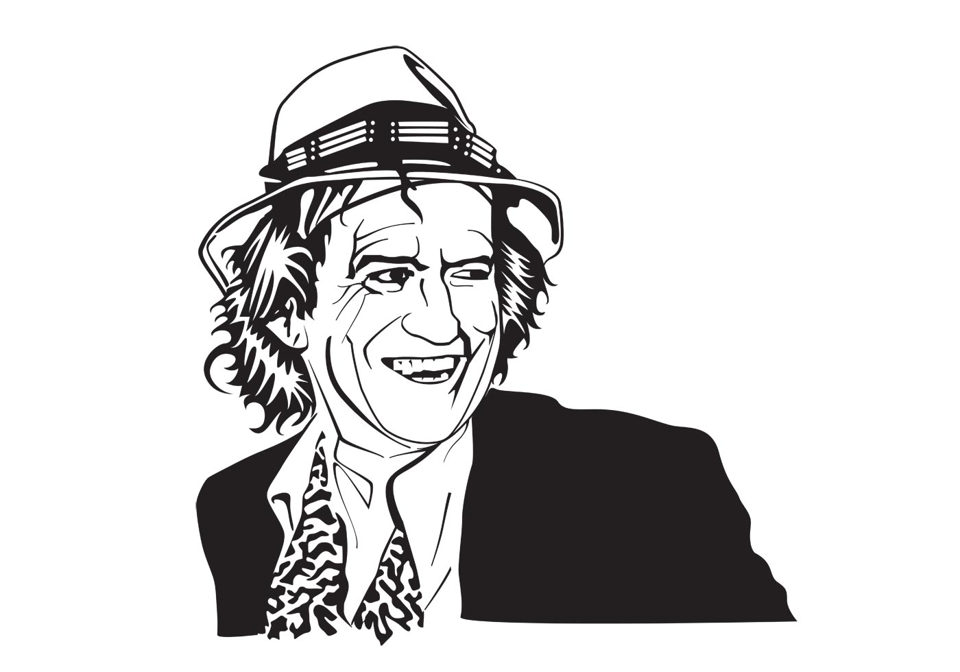 Keith Richards Vector Portrait Download Free Vector Art