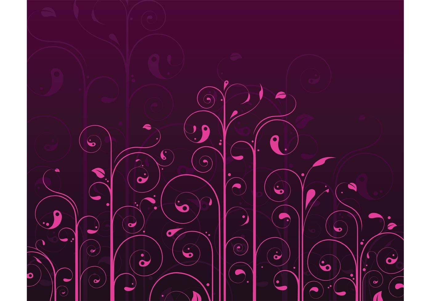 Vector Swirls Flower Pattern
