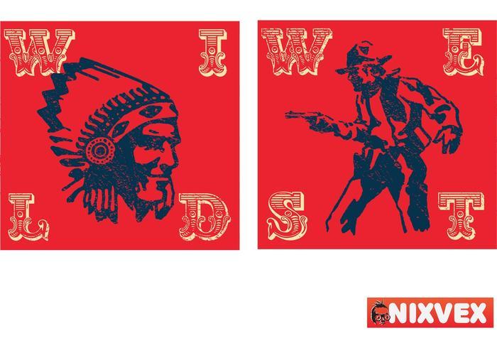 """NixVex """"Wild West"""" Free Vector"""