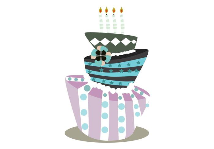 Birthday Cake Images Vektor ~ Another funky cake download free vector art stock graphics