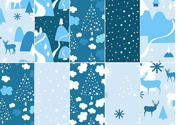 Chilly Winter Vector Pattern Pack
