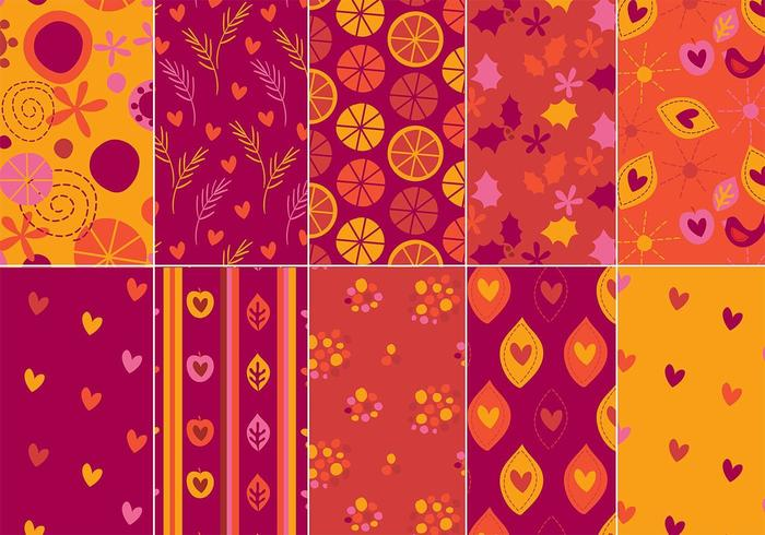 Festlig Illustrator Pattern Pack vektor