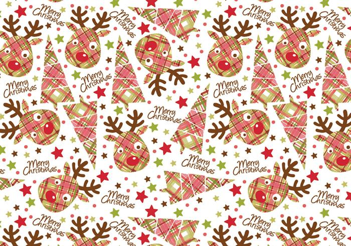 Christmas Reindeer Tag and Illustrator Pattern Pack