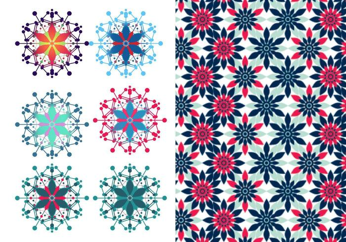 Festive Floral Vector & Illustrator Pattern Pack