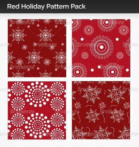 Red Holiday Illustrator Pattern Pack vektor