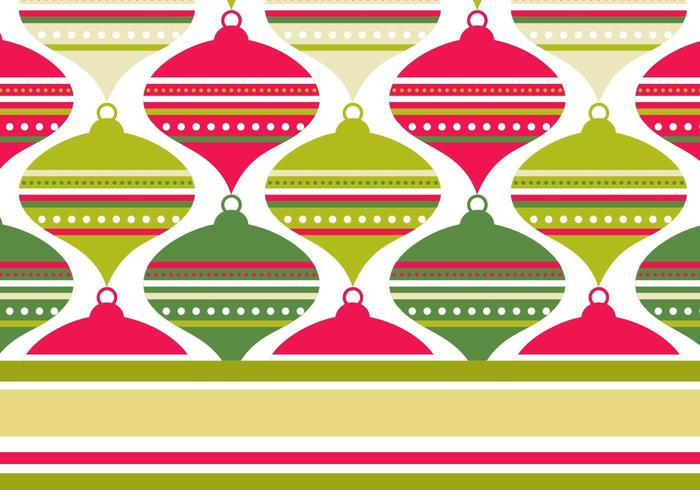 Retro Red and Green Illustrator Pattern & Wallpaper Pack vector