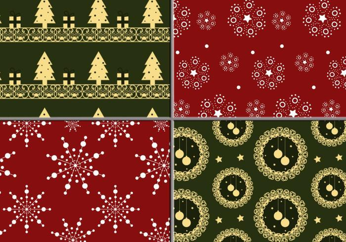 Holiday krans och Tree Illustrator Pattern Pack vektor