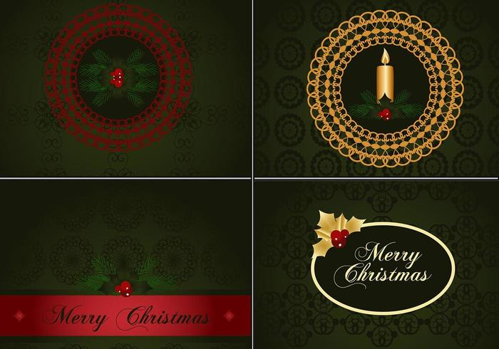 Deep Green Christmas Illustrator Wallpapers vector