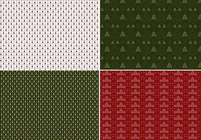Kerstboom Illustrator Patroon Pack vector