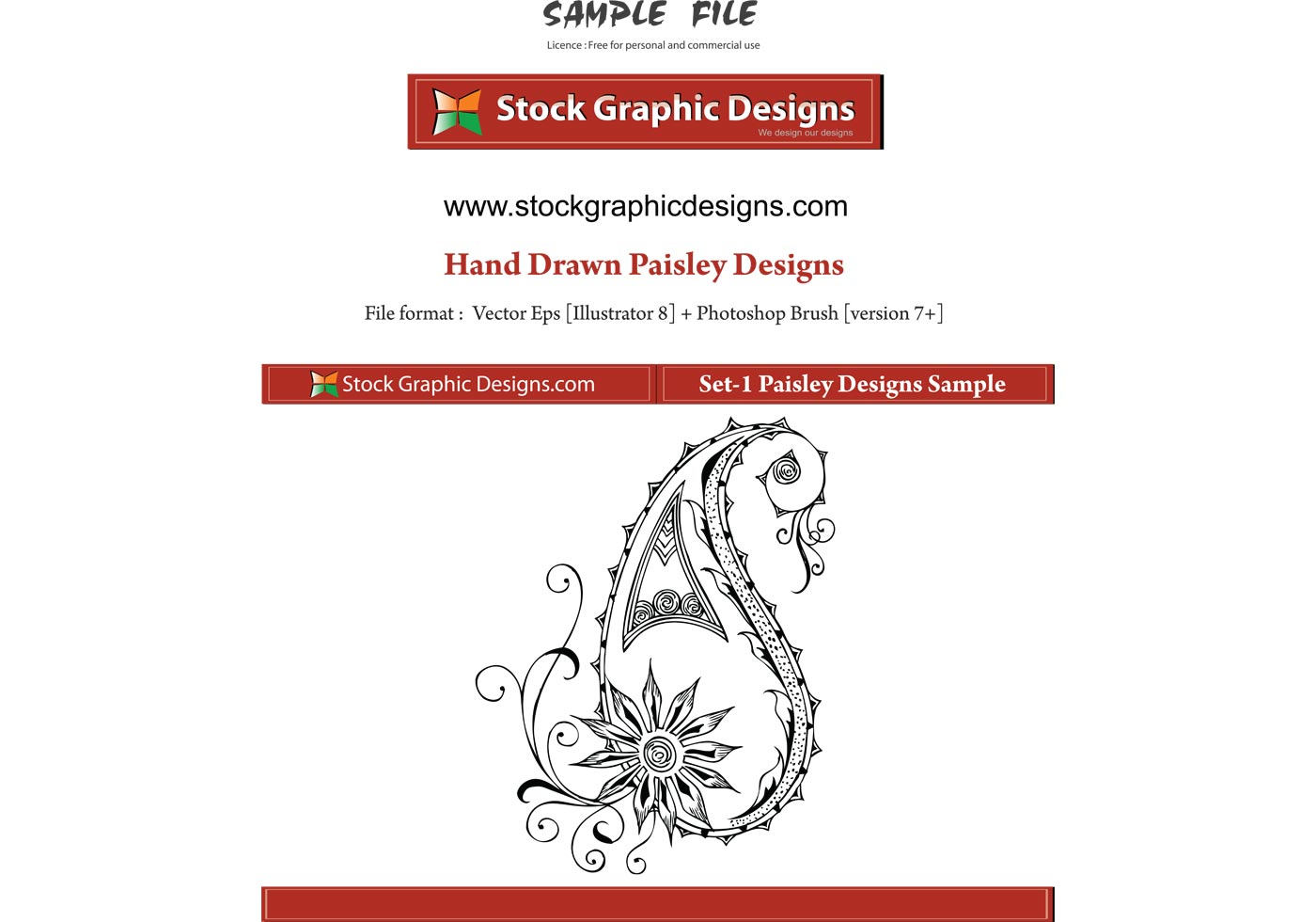Vector Paisley Designs Download Free Vector Art Stock