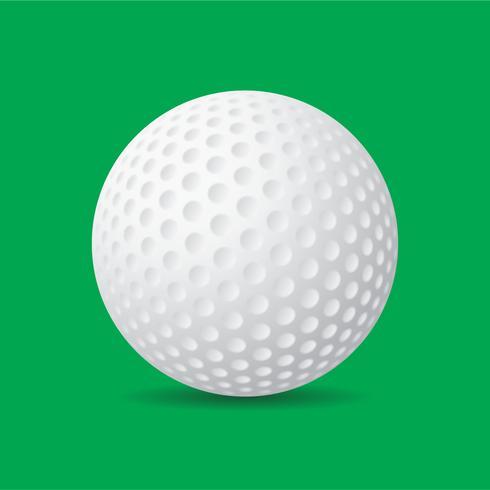 Pelota de golf de vector libre