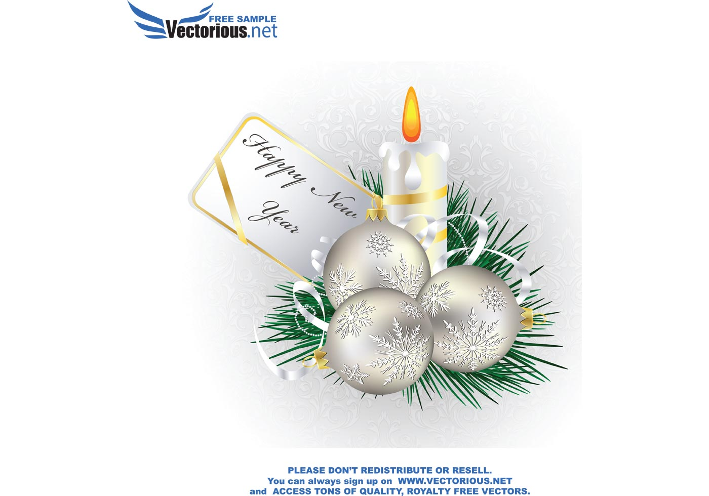 December Vector Christmas Greeting Card Download Free Vector Art