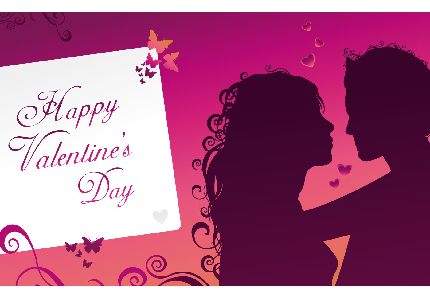 Happy Valentines Day Greeting Card Download Free Vector Art