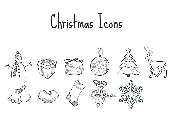 Free Illustrated Christmas Vector Icons!!!