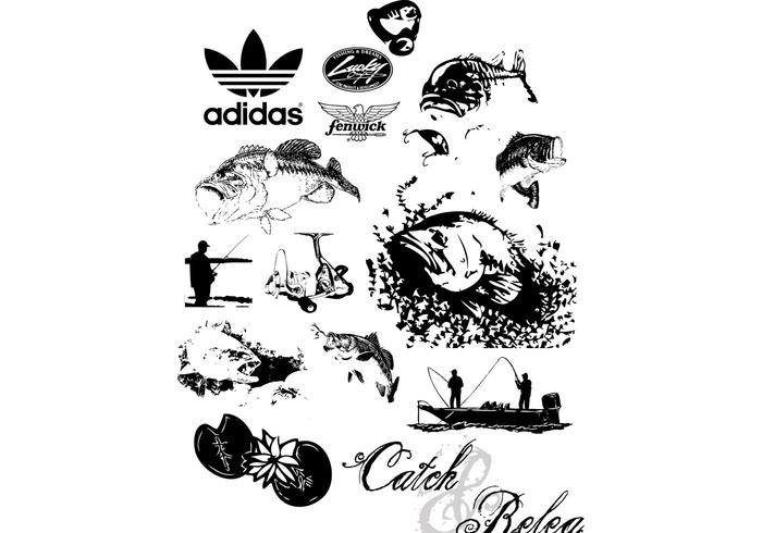 Bass Fishing Free Vector Art