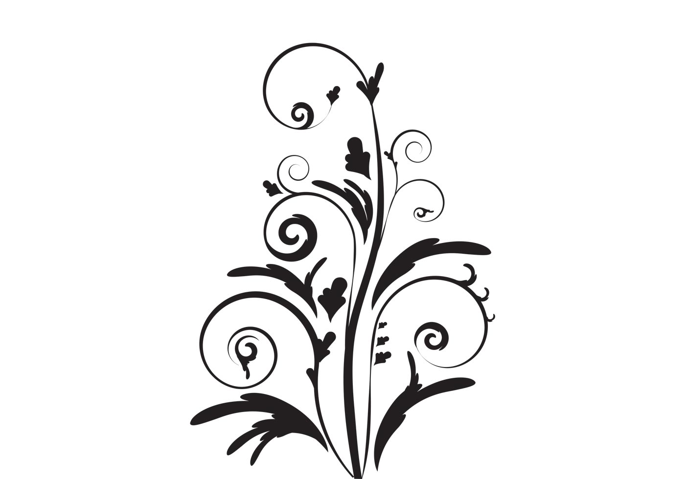 Line Art Flower Vector : Free elegant floral vector from vecteezy
