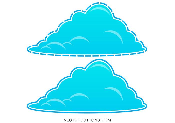 Coola blå fluffiga moln