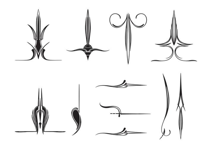 11 vectores abstractos ornamento
