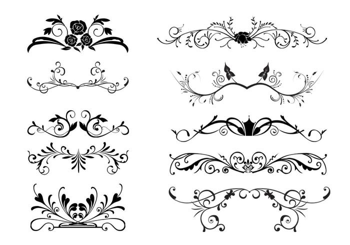 10 Floral Ornamental Border Vectors