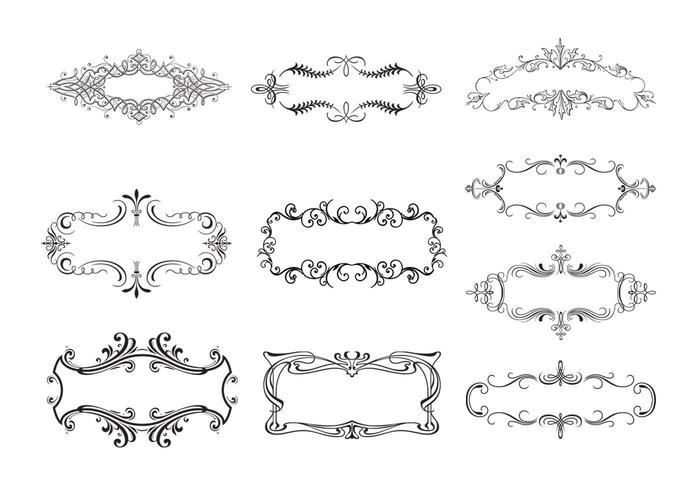 10 Floral Ornamental Banner Vectors