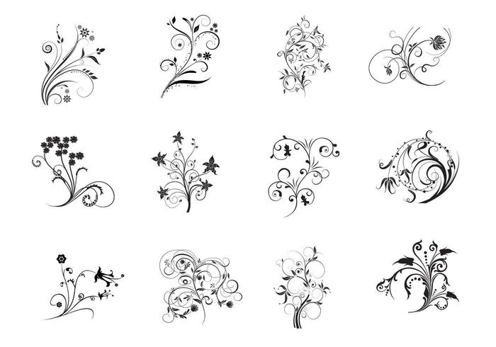 Floral Flourish vectores