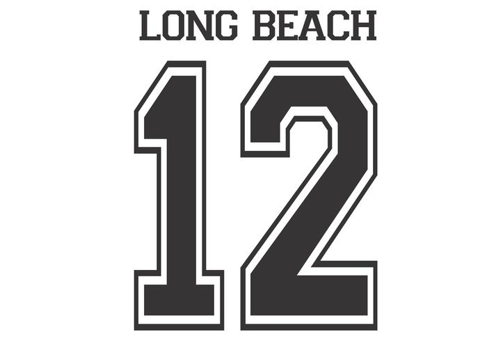 Long Beach 12 Vector Basketball Style