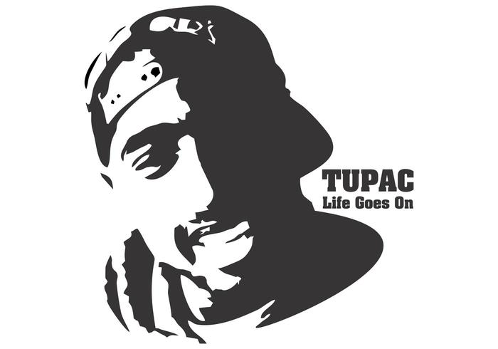 Tupac Shakur T Shirt Design Vector