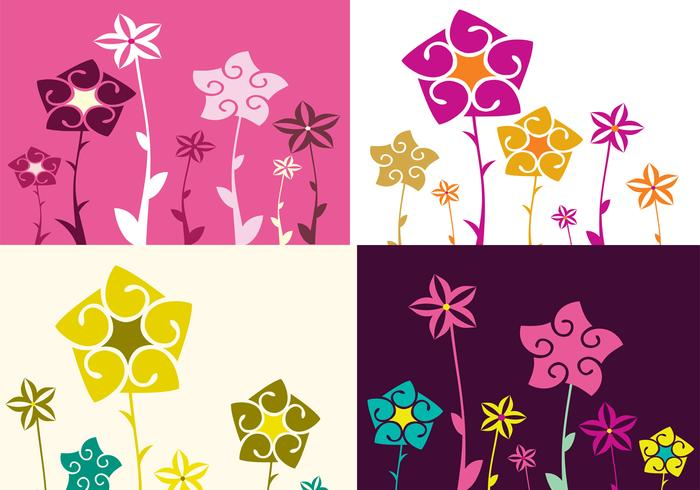 Fyra Floral Illustrator Wallpaper Pack