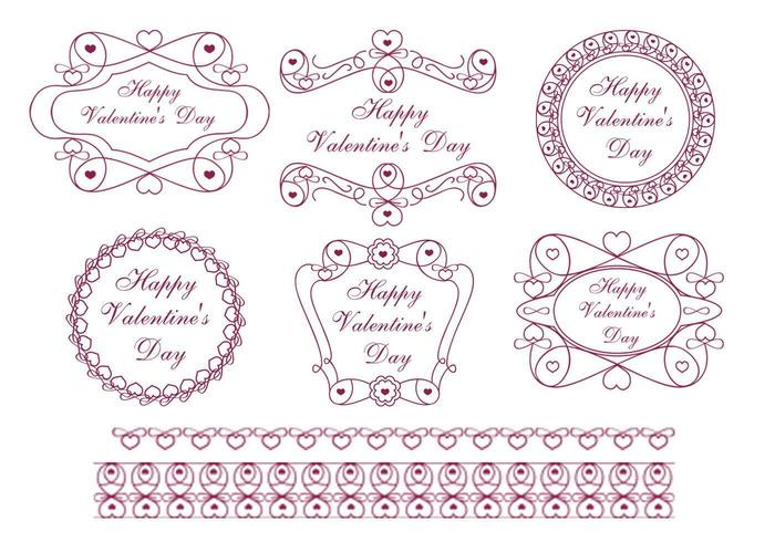 Happy ValentineS Day Label Vector Pack  Download Free Vector Art