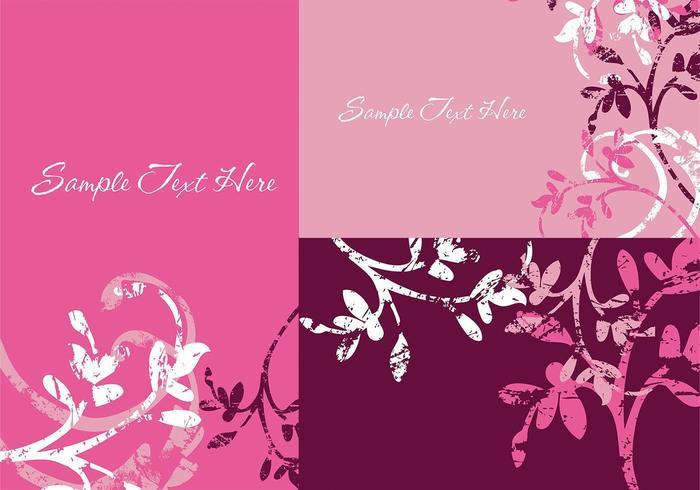 Grunge floral illustrator wallpapers vector