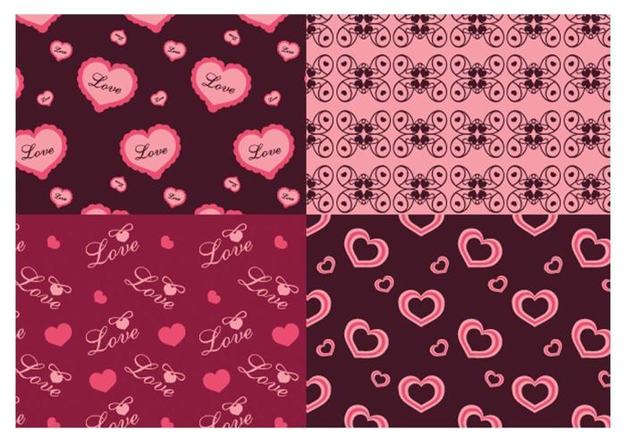 Alla hjärtans dag Love Illustrator Patterns vektor