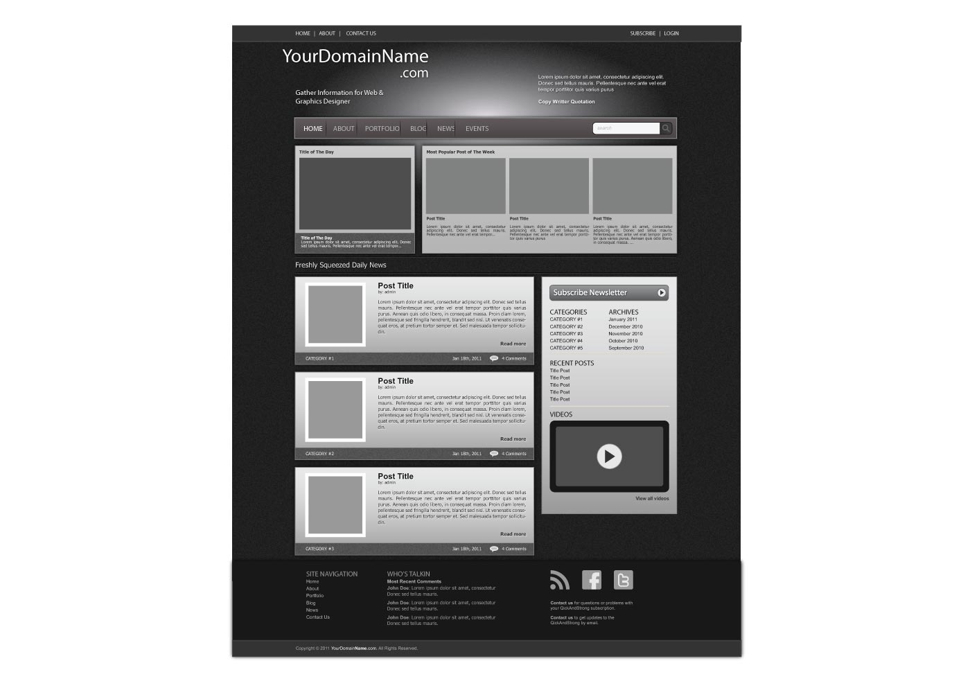 Free Vector Web Template