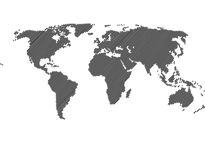 world map 45 lines vector