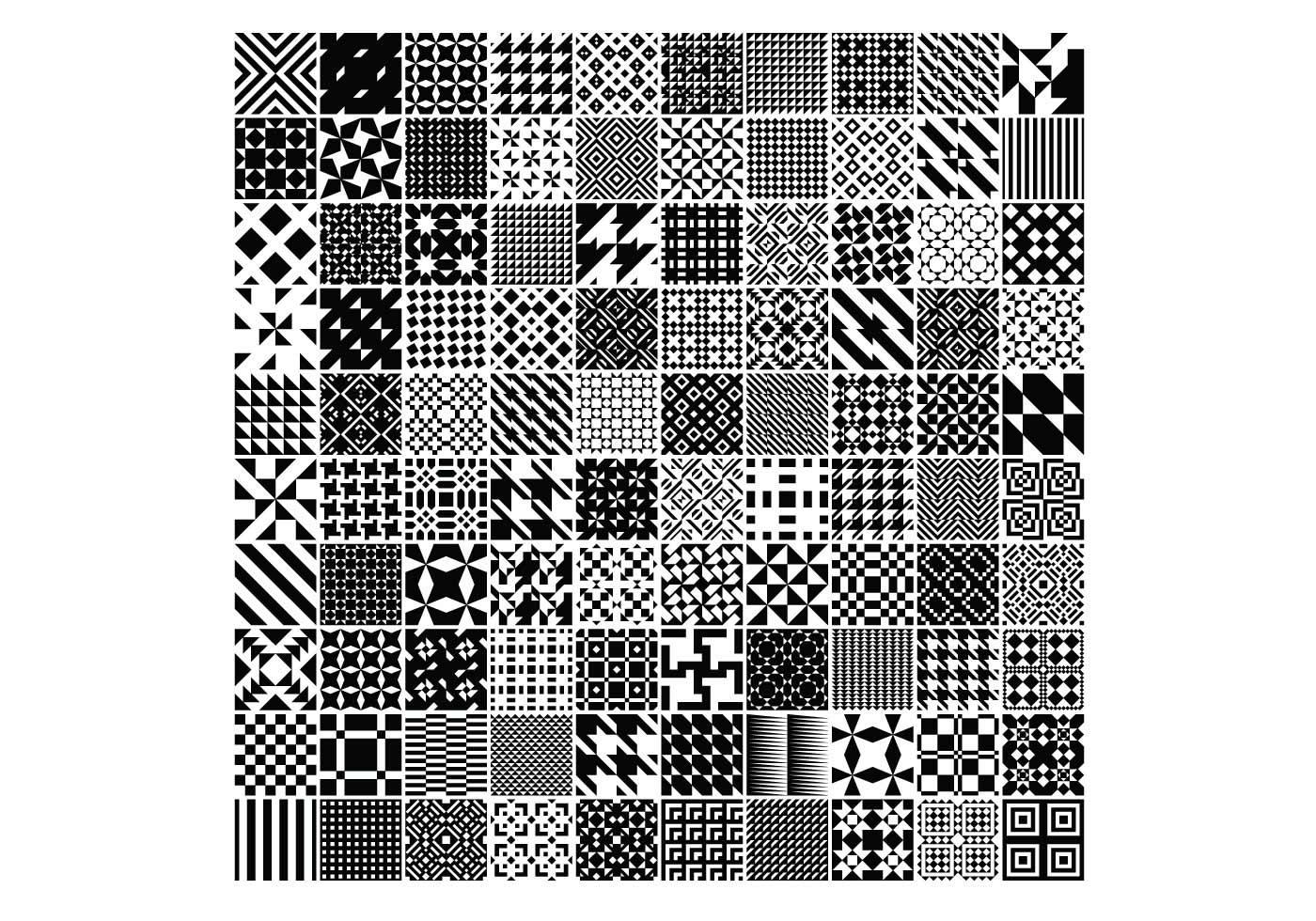 Pattern Vector Pack of 100 Creative Design Pattern Vectors