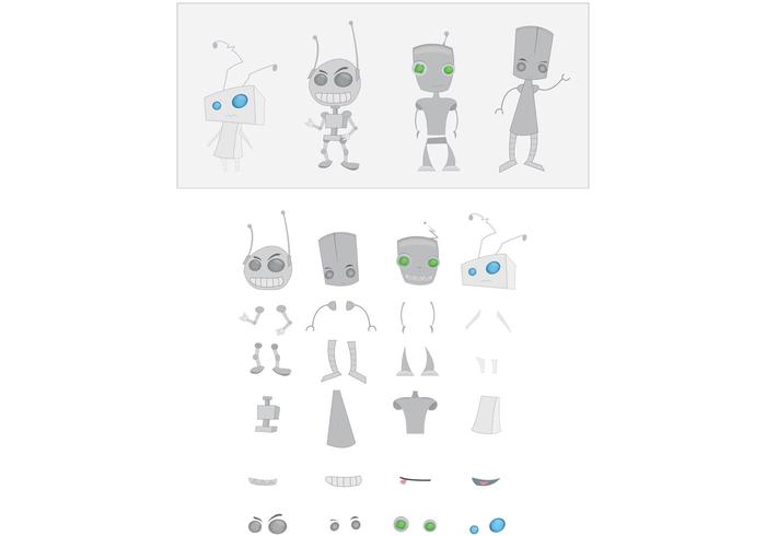 Robot Vector Assembly Kit