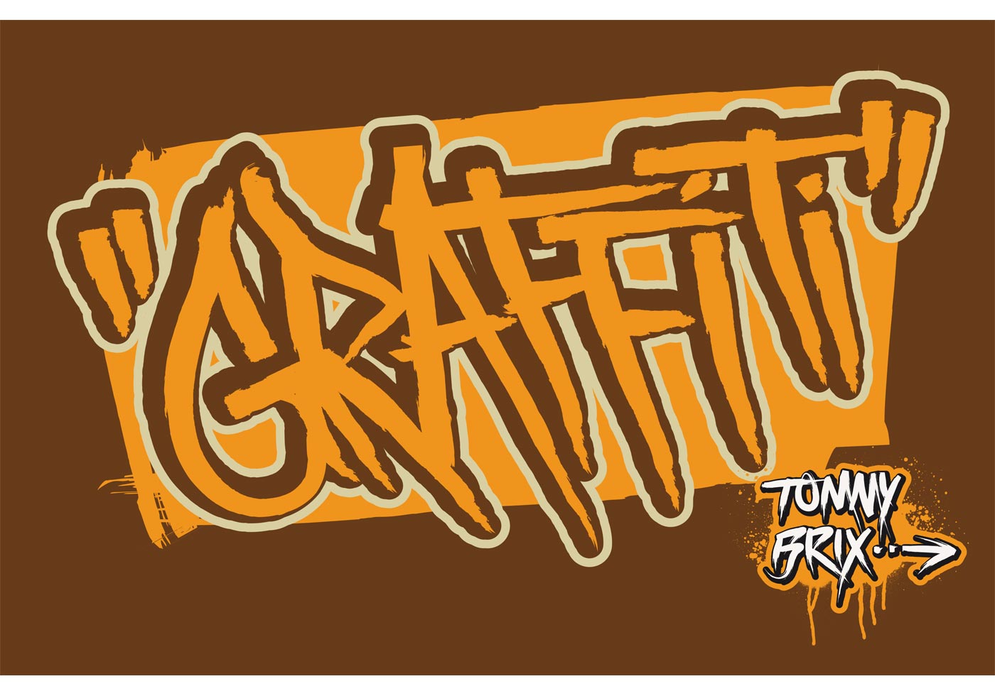 GRAFFITI Design Tommy Brix Download Free Vector Art